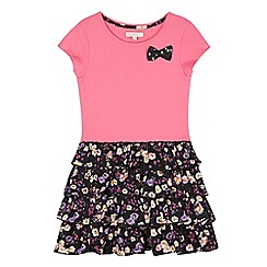 bluezoo - Girl's pink floral rara dress