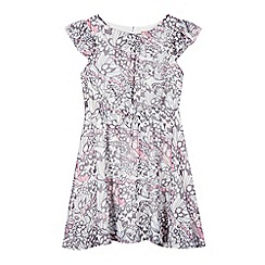 bluezoo - Girl's pink butterfly print tea dress