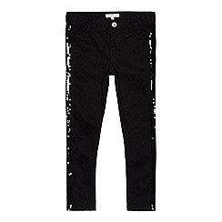 bluezoo - Girls' black sequin skinny jeans