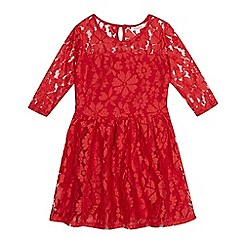 bluezoo - Girls' red lace dress