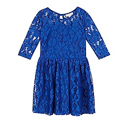 bluezoo - Girls' blue lace dress