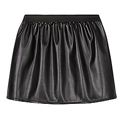 bluezoo - Girl's black PU skirt