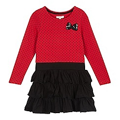 bluezoo - Girls' red spotted bow dress