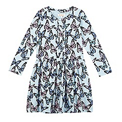 bluezoo - Girl's light blue butterfly dress