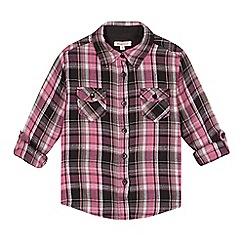 bluezoo - Girl's pink tartan shirt