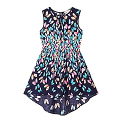 bluezoo - Girl's navy butterfly print dress