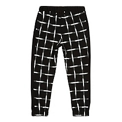 bluezoo - Girl's black grid print trousers