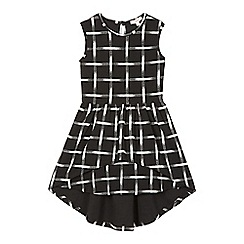 bluezoo - Girl's black grid print dress