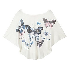 bluezoo - Girl's cream butterfly cape top