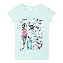 bluezoo - Girl's aqua girl outfit t-shirt