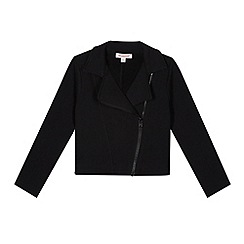 bluezoo - Girl's black jersey biker jacket