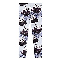 bluezoo - Girl's cream panda print leggings