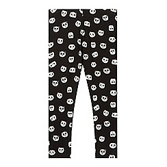bluezoo - Girl's black panda print leggings