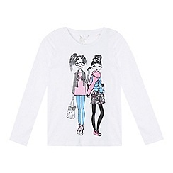 bluezoo - Girl's white girls printed top