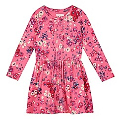 bluezoo - Girl's pink long sleeved floral dress