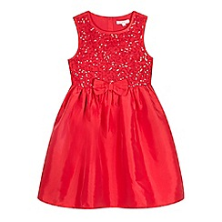 bluezoo - Girls' red sequin bodice dress