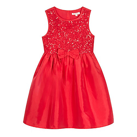 bluezoo - Girls+ red sequin bodice dress