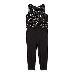 bluezoo - Girls' black sequin jumpsuit