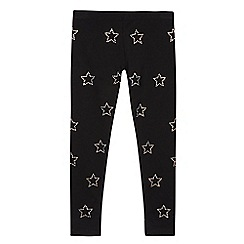 bluezoo - Girls' black diamante star leggings