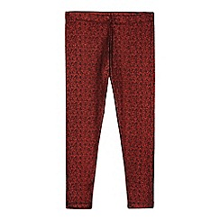 bluezoo - Girls' red shimmer leggings