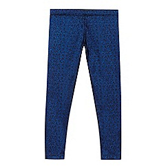 bluezoo - Girls' blue shimmer leggings