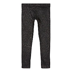 bluezoo - Girls' black shimmer leggings