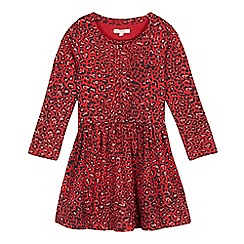bluezoo - Girls' red animal print dress