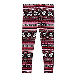 bluezoo - Girls' multicoloured Fair Isle leggings