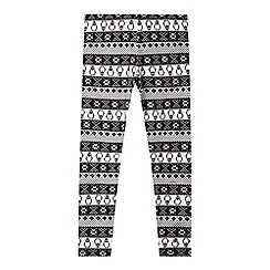 bluezoo - Girls' white Fair Isle leggings