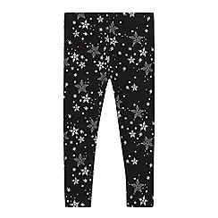bluezoo - Girls' black snowflake leggings