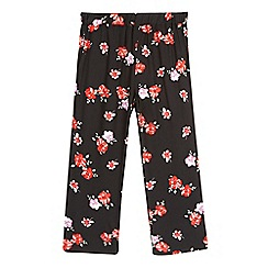 bluezoo - Girls' black floral wide leg trousers