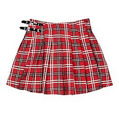 bluezoo - Girls' red tartan skirt