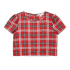 bluezoo - Girls' red tartan shell top