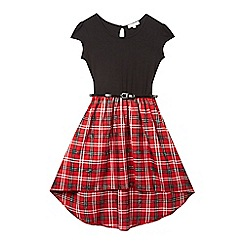 bluezoo - Girls' red tartan dress