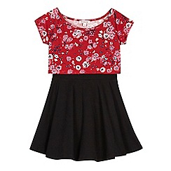 bluezoo - Girls' red floral dress