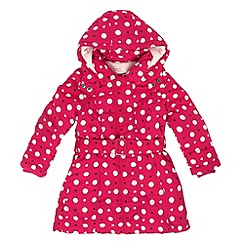 bluezoo - Girl's pink padded fleece lined coat