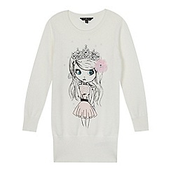 Star by Julien MacDonald - Designer cream embellished princess girl jumper