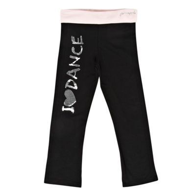 Girls Black Dance Jogging Bottoms