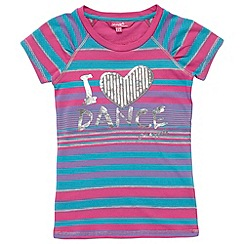 Pineapple - Girl's multi coloured 'i love dance' top