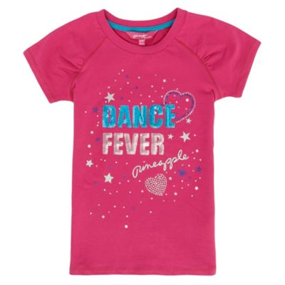 Girls Pink Dance Fever T-shirt