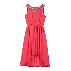Star by Julien Macdonald - Designer girl's pink gem dress