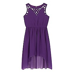 Star by Julien Macdonald - Girls' purple pink gem dress