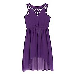 Star by Julien Macdonald - Girls' purple pink gem dress