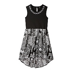 Star by Julien MacDonald - Designer girl's black scuba mono print dress