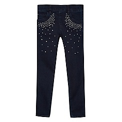 Star by Julien MacDonald - Designer girl's blue diamante detail denim jeggings