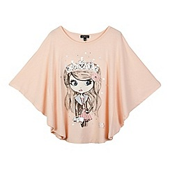 Star by Julien MacDonald - Designer girl's pink stone girl cape t-shirt