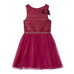 Star by Julien Macdonald - Girls' dark pink studded prom dress