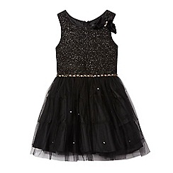 Star by Julien Macdonald - Girls' black studded prom dress