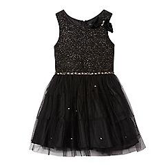 Star by Julien Macdonald - Girls' black studded prom dress