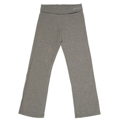 Girls Dark Grey Jogging Bottoms